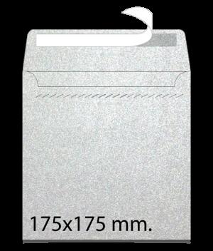 Sobre cuadrado en papel pleateado 175x175
