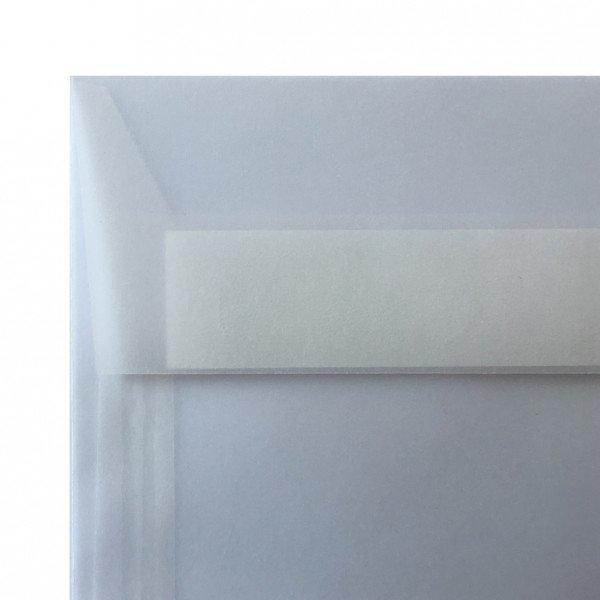 Sobre americano sin ventana de papel translúcido