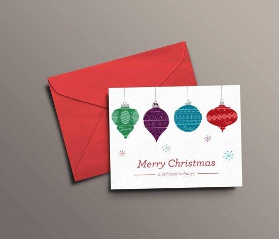 Felicita la navidad con sobres impresos personalizados para familiares y amigos