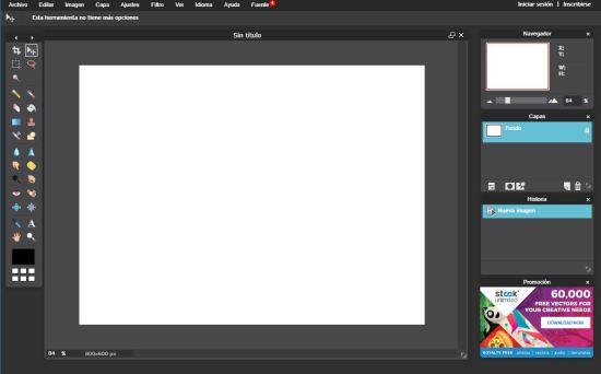 Programas online para diseñar tus sobres impreso pixlr