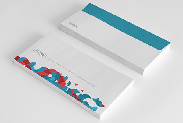 Cartas comerciales con sobres impresos creatividad