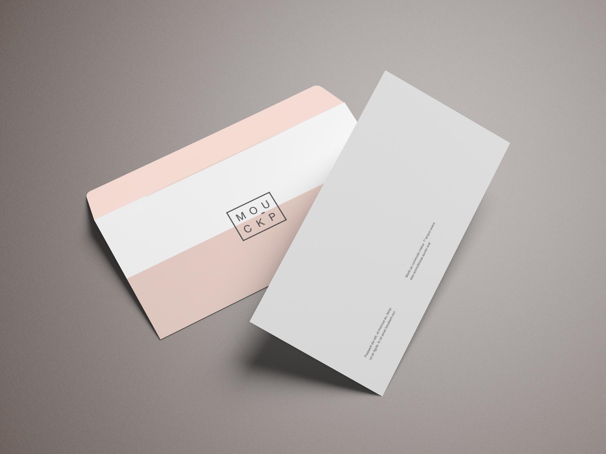 Cartas comerciales con sobres impresos sobre americano