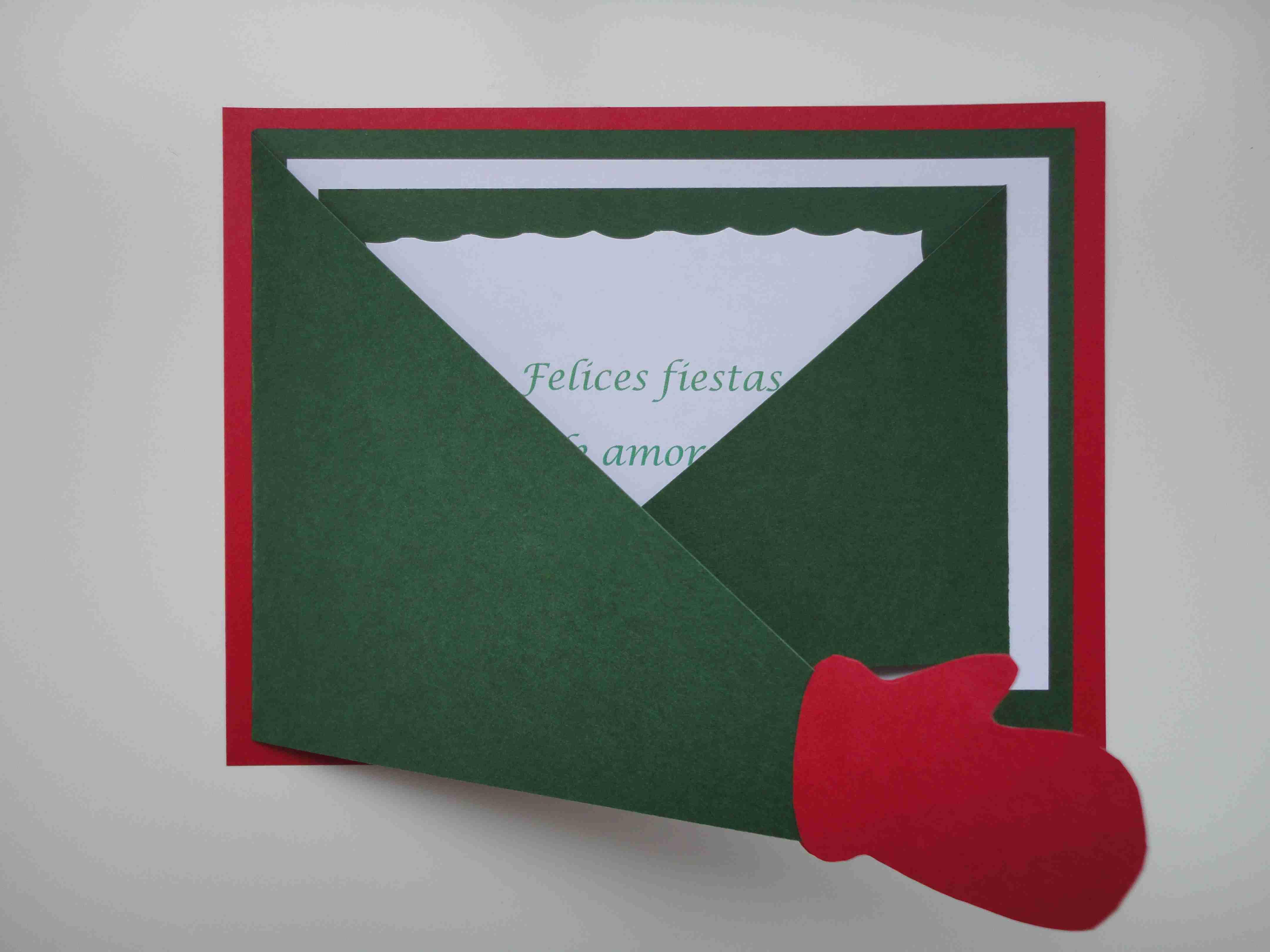 Felicita la navidad con sobres impresos personalizados