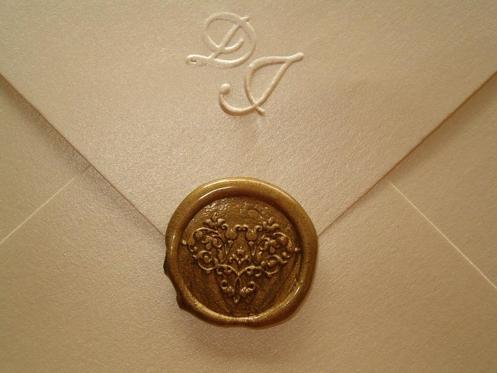 Sellos de lacre para sobres impresos bodas